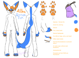 Alba Fennec Reference Sheet by rebeccathejolteon