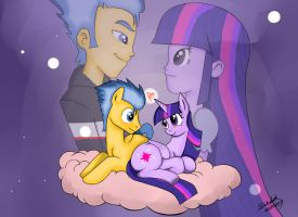 Flash Sentry and Twilight sparkle color by Shikidark