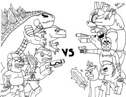 Scalies Vs Ponies 2: Who Do You Choose to Win by Zethasaurus