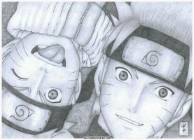 Naruto and Naruto by Beelthand