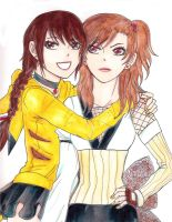 Misao and Asame by KziraLee