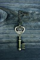 Owl Key Necklace by MythicalFolk