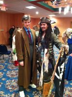 Doctor Who Cosplay: Ten and Capt. Jack by KnoppGraphics