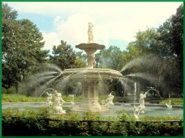The Fountain at Forsyth Park by Hathnowitz