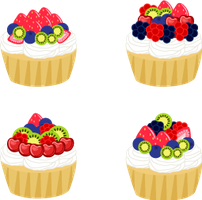 Mini Fruit Tarts by MidniteHearts