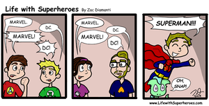 Life with Superheroes #20 by ZacAvalanche