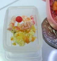 Mini Fried Rice Bento closeup by Snowfern