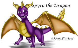 Spyro the Dragon by Flurious