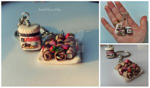 Nutella and pankakes Keychain by SweetIva