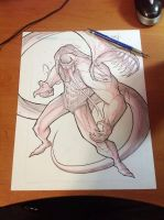 Commish 159 WIP 03 by RobDuenas