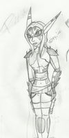 Commander Ritah of the Krimzon Guard. by ashleg4ever