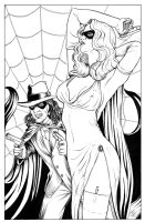 The Spider and Domino Lady by DocRedfield