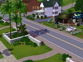 Sims 3 - Denise and Annasophia rode bikes to home by Magic-Kristina-KW