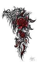 Rose Star Tribal by Patrike