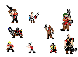 Team Fortress 2 Minis by AnimeFur