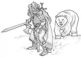 Ninurta - Beorn and the ice bear by alexine-pankhurst