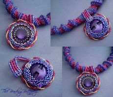 Cellini Spiral Necklace WIP by beadg1rl