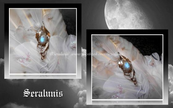 'Lunar magic' sterling silver pendant commission by seralune