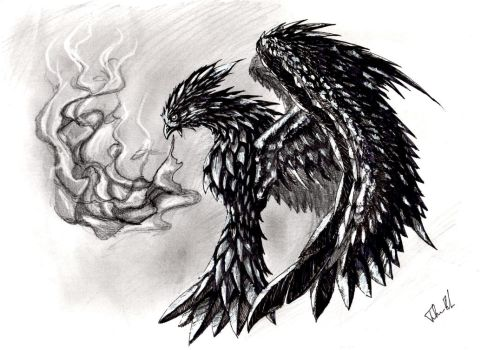 Phenix in balck and white (Perfected) by CaptainFaybs