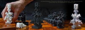 Surreal Fractal Chess Set -Masterpieces- The King by MANDELWERK