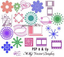 PSP8-up Vector Brushes by taterstock