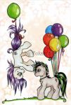 pony balloons by Fukari