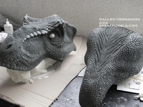 T rex bust 1:4 scale Molding WIP by GalileoN