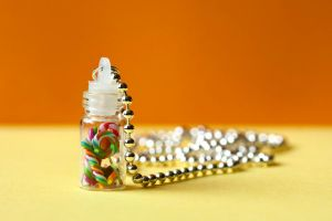 Mini candy jar - necklace by nandiamond