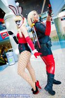 Alt. Lady Deadpool and Harley Quinn by Seriouslyyyy