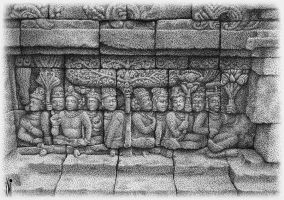 Relief Borobudur by toniart57