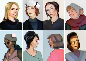 Some lady portraits by sikkofoley