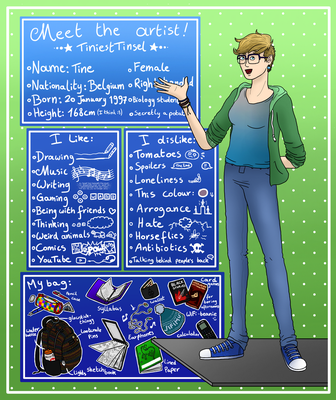 Meet The Artist + Tell Me About You! by TiniestTinsel