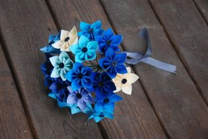 Shades of Blue Kusudama by lisadeng