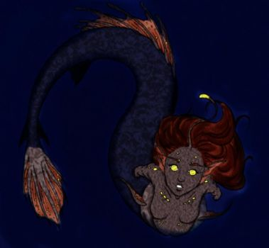 Izzy The Angler Fish Mermaid by Danerboots