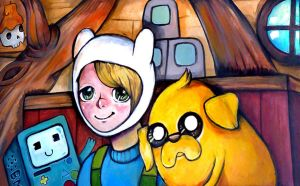 Finn, Jake and BMO by Rubysnuff