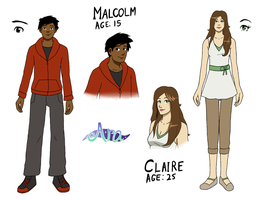 Character Designs: Malcolm and Claire by Arabesque91