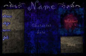 PhantomLyna Garden--New Reference Sheet Template by VerGenemi