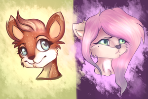 My two new OC characters by IzumiXCZ