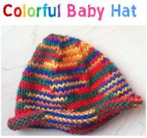 Colorful Baby Hat by knittywitty