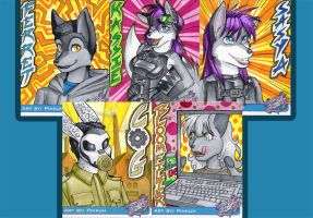First round of Badges by Pinkuh
