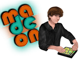 Old Drawing of Madeon by petulantScribbler