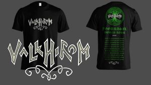Valkhirom band t-shirt design by MoriNoYosei