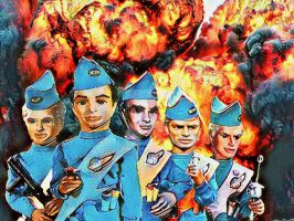 Thunderbirds action poster. by stick-man-11