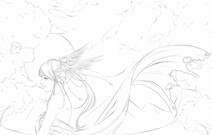 Lineart- a Fantasy by Cuine