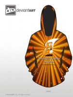 Foxhorn 8-bit hoodie by JuneBugChronic