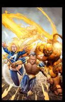 Ultimate FF vs X-Men by JeremyColwell