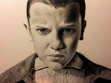 11 Drawing, Stranger Things by MyaWho