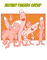 Mutant-Fingers-Group by Cartoonray