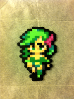 Rydia - Final Fantasy 4: After Years - Bead Sprite by flamemandala