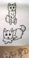 Chibi dogs by Cavachon